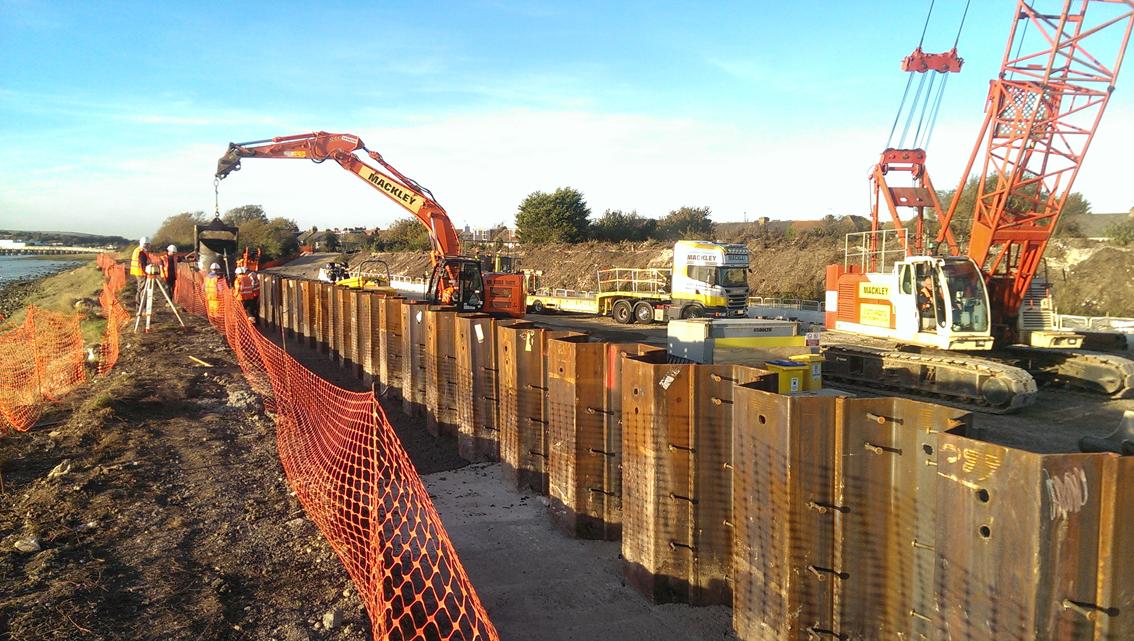 Shoreham Adur Tidal Walls Scheme