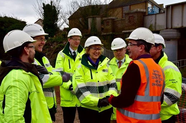 TVO Leadsom visit to Shoreham